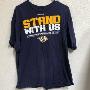 Nashville Predators NHL Playoffs Shirt XL